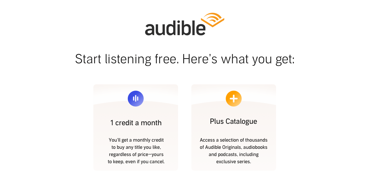 Start Listening Free with Audible