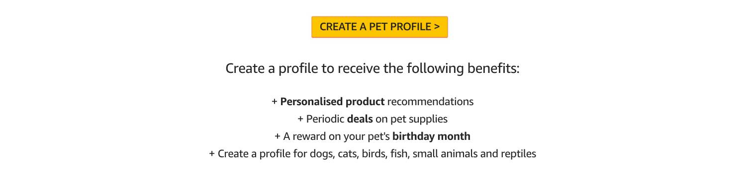 Create a Pet Profile