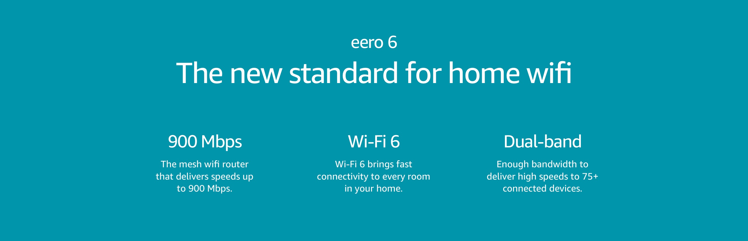 eero 6, the new standard for home wifi