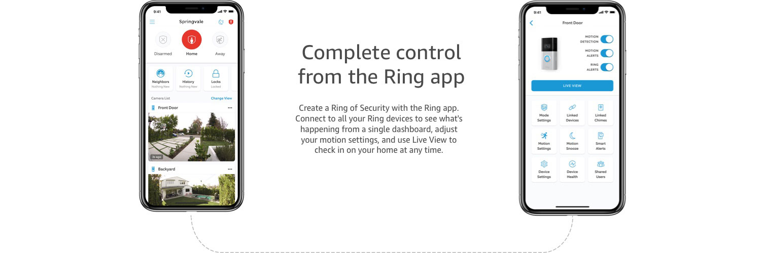 Complete Control from the Ring app