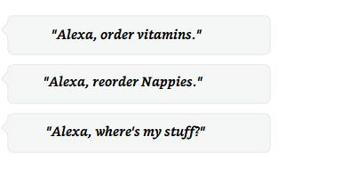 Alexa, order vitamins <table class=