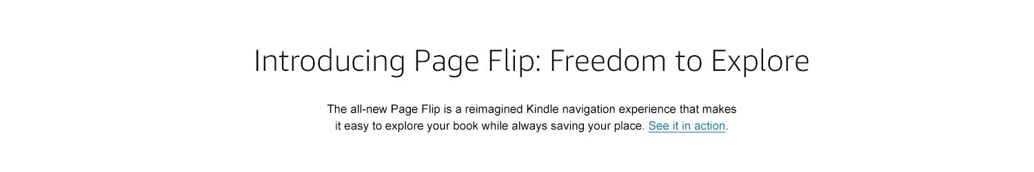 Introducing page flip: freedom to explore