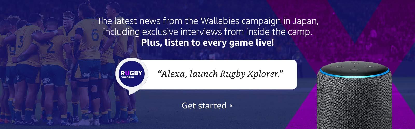 Alexa, open Rugby Xplorer