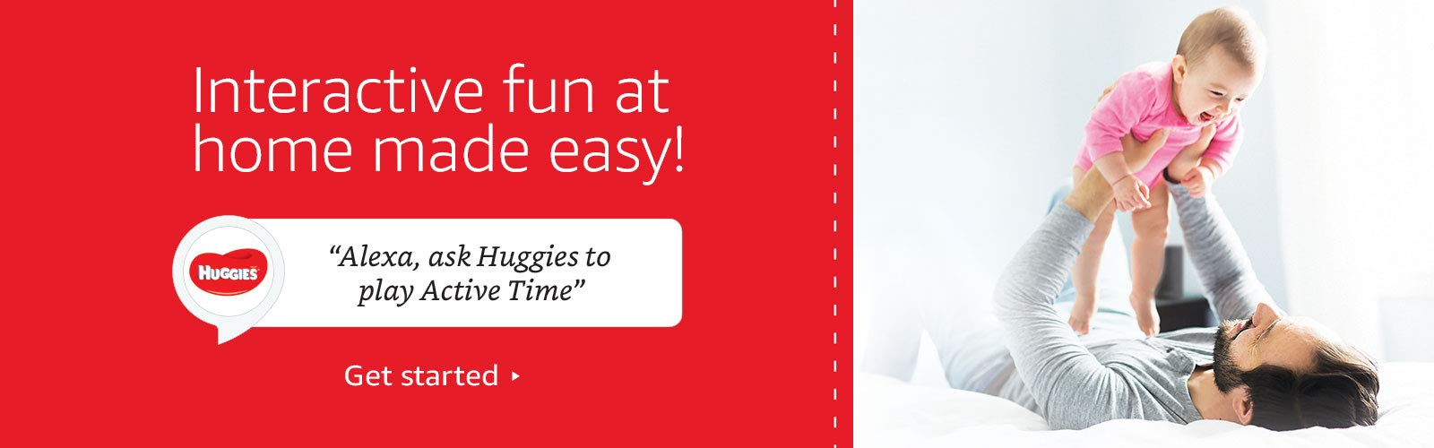 """Alexa, ask Huggies to play Active Time"""