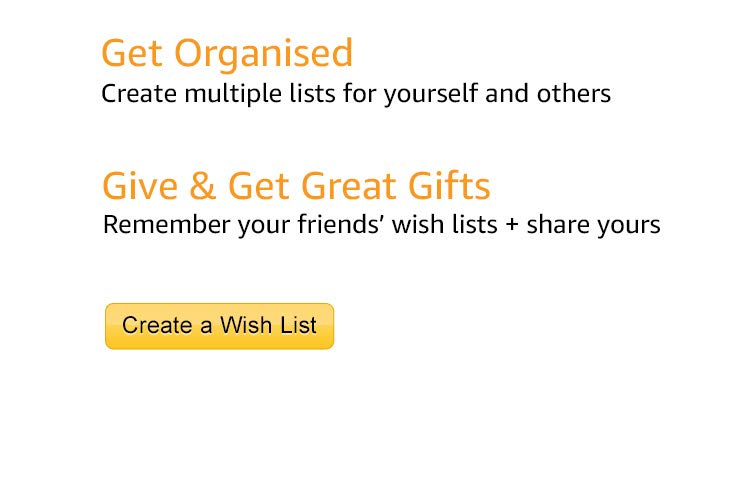 Create a wishlist