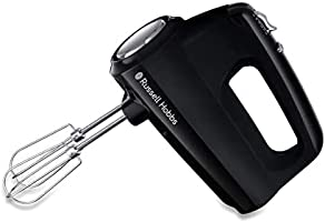 Russell Hobbs Matte Black Handmixer, 350 Watt, 5 Snelheden, Turboboost, 24672-56