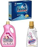 Huishoudelijke artikelen van Finish, Vanish, Woolite en Glassex