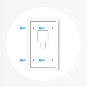 Bevestig de montagesteun op de plek waar je de deurbel wilt gebruiken.