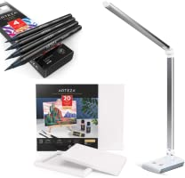 Diverse kantoorartikelen, knutselproducten, potloden en canvassen
