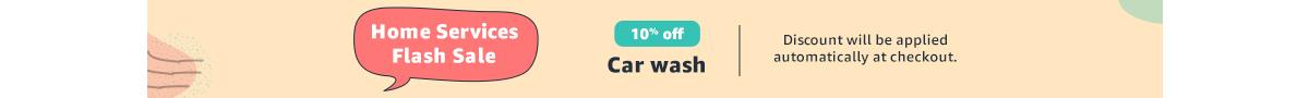 10% off car wash