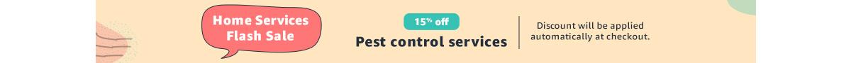 15% off   pest control