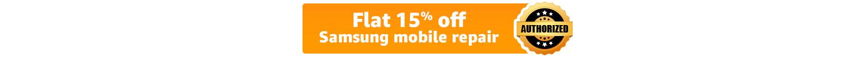 15% off Samsung repair