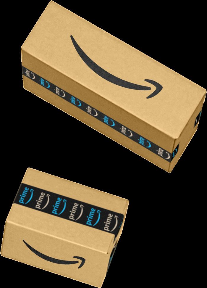 Farklı boyutlardaki Amazon paketleri