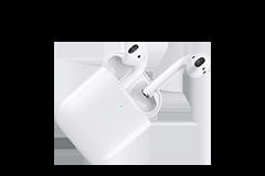 Apple AirPods med trådlöst laddningsetui (andra generationen)