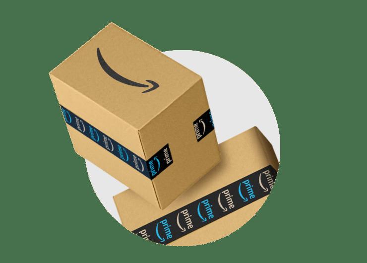 Image of multiple Amazon shipping boxes