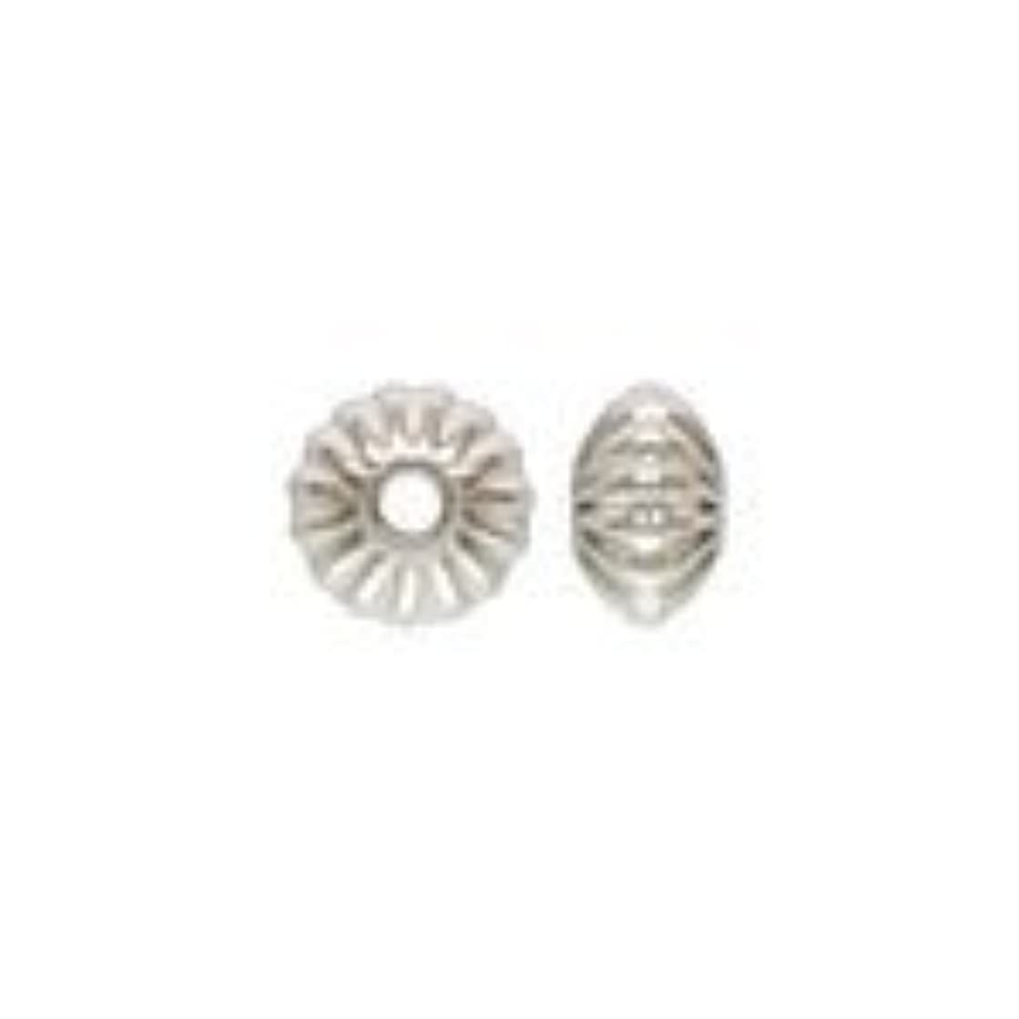 (25) 3.3 x 2mm Sterling Silver CORRUGATED SAUCER Beads 31030