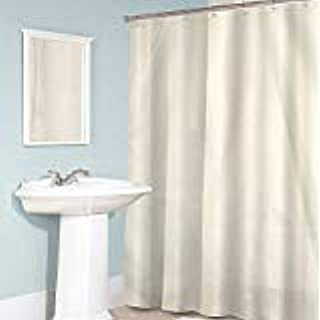 Amazon Wamsutta 54 Inch X 78 Shower Stall Fabric Curtain Liner With Suction Cups In Ivory