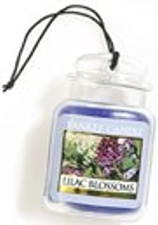 Yankee Candle Lilac Blossoms Car Jar Air Freshener, Floral Scent,Purple