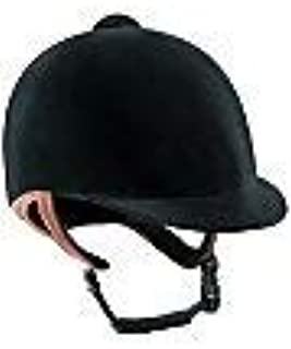 IRH Pro-Rider Low Profile Velvet Helmet - Size:6 1/2 Color:Black