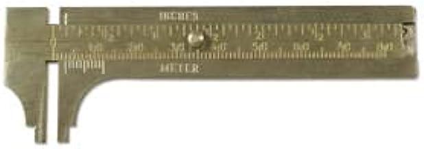 80mm Caliper Brass Gauge Ruler Measure Inches Metric Sliding Millimeter Gauge Measuring Beads