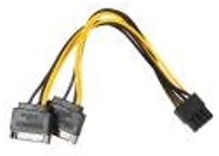 Fullfun 15Pin SATA Male To 8pin(6+2) PCI-E Male Video Card Adapter Cable, 7.9""