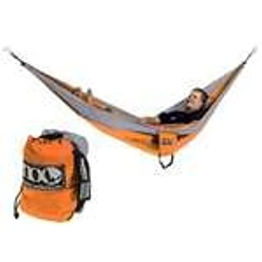 eno Eagles Nest Outfitters - DoubleNest Hammock with Insect Shield Treatment, Orange/Grey