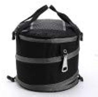 حقيبة حمل قابلة للطي سعة كبيرة أسطوانية الثلج المجمدة حقيبة طعام طازج حقيبة نزهة قسم الفراغ، أسود