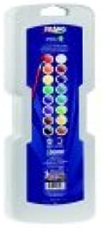 Prang Non-Toxic Semi-Moist Wax-Free Watercolor Paint Set44; Plastic Oval Pan44; Set - 16