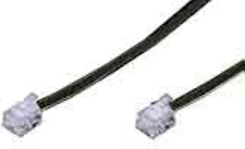 安心悲劇的な道に迷いましたVictor フラットモジュラーコード 6極4芯タイプ(5M) 黒色 [TF-150F-B]