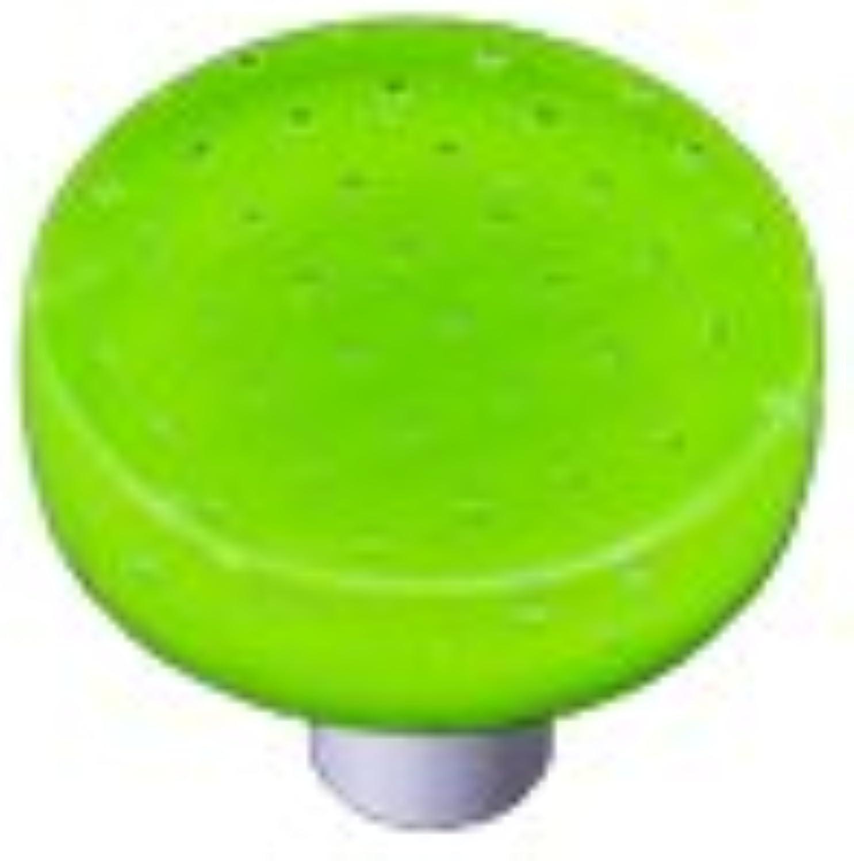 Hot Knobs HK1205-KRB Bubbles Spring Green Round Glass Cabinet Knob - Black Post