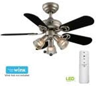 HAMPTON BAY 44 Inch Indoor White Ceiling Fan Light Kit Remote Control 3 Blades