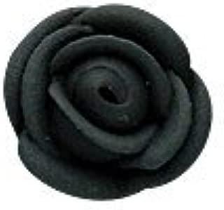 black icing roses