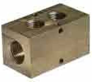 F Cole-Parmer AO-31523-35 PVDF Manifold Outlet F 3//8 Npt 2 Port 1//2 Npt Inlet