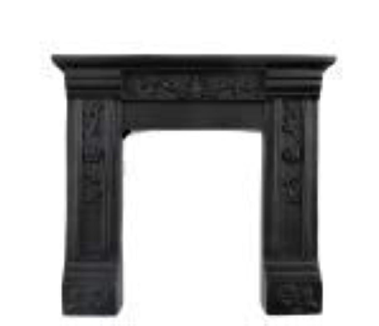 ネブお父さんノーブルドールハウスの小さな黒いビクトリア朝の暖炉サラウンドレジン1:12家具