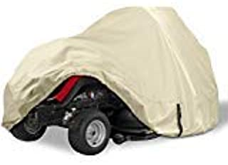 Porch Shield Heavy Duty 600D Polyester Lawn Tractor Cover, Waterproof Universal Riding Lawn Mower Cover (Up to 54 inches D...