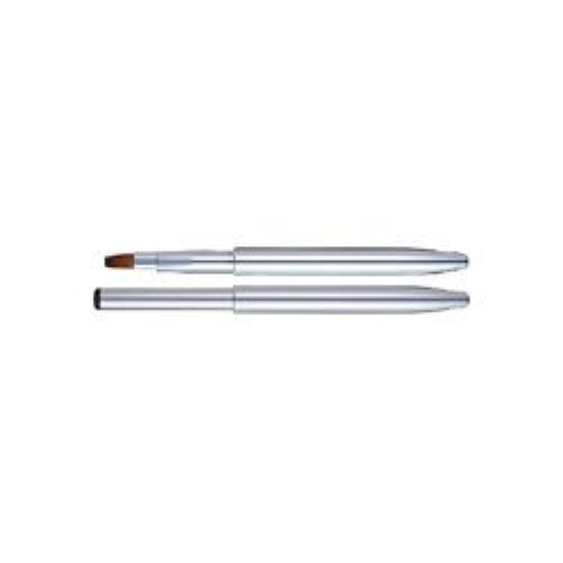 カテゴリー甲虫西化粧筆 スライド式リップブラシ (シルバー) L-02