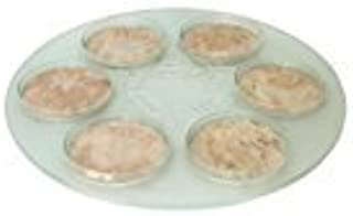 Passover Pesach Seder Plate. 7 Piece Set. Glass & Jerusalem Stone. Hand Made in Israel By CJ Art, Size: 14.5