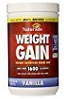 Naturade Weight Gain Instant Nutrition Drink Mix, Vanilla, 20.3 Ounces (Pack of 2)