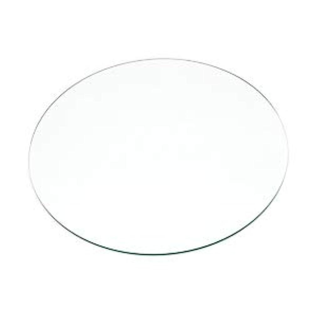 虎スケッチ哲学OOKABE GLASS 透明ガラス 厚み4mm φ500mm 円形 丸 糸面取り サイズオーダー
