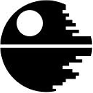 Star Wars Inspired(2 PACK) Death Star Sci Fi Vinyl Decal Sticker|BLACK|Cars Trucks Vans SUV Laptops Wall Art|3