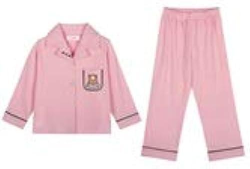 Yijiayu Pyjama en Coton à Manches Longues pour Fille Rose à Manches Longues pour Les Filles (Couleur   rose, Taille   12)