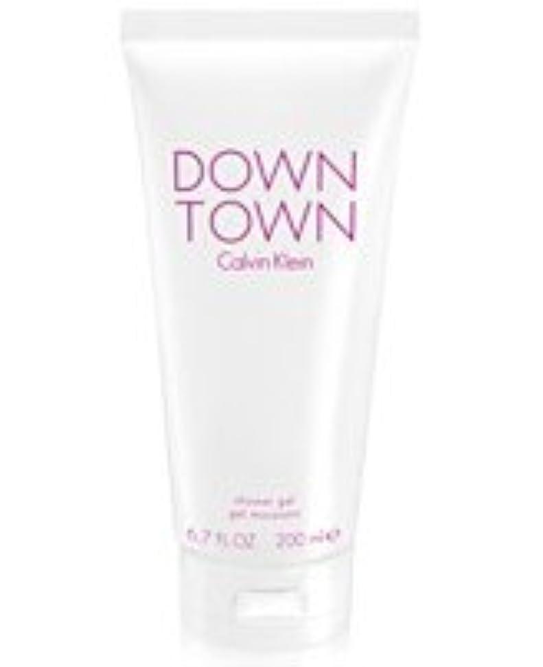 有彩色の認可驚きDown Town (ダウンタウン) 6.7 oz (200ml) Body Wash by Calvin Klein for Women