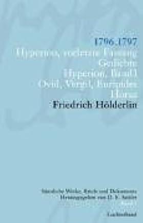 Friedrich Hölderlin Sämtliche Werke Briefe Und Dokumente