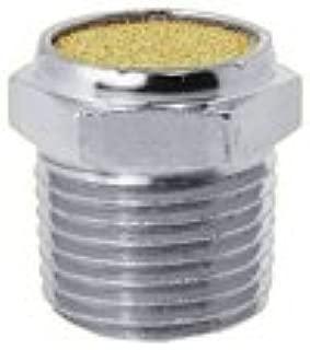 PneumaticPlus BVS-18 Sintered Bronze Breather Vent - Nickel Plated Iron Body, 1/8