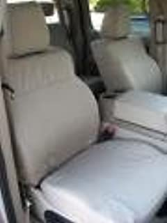 Durafit Covers.2004-2008 Ford F150 Super Crew Cab Exact Fit Seat Covers.Front Buckets .Rear 60/40 Split Bottom Solid Back Bench Seat Taupe Waterproof Endura.