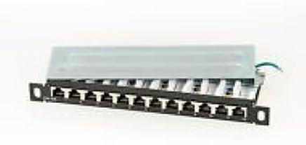 12-porto SCENetwork KAT6a CAT6a Mini 25,4 cm patch panel in metallo, schermato, colore RAL9005, per montaggio a parete e montaggio desktop e di 25,4 cm adatto, 0,5 HE - Trova i prezzi più bassi