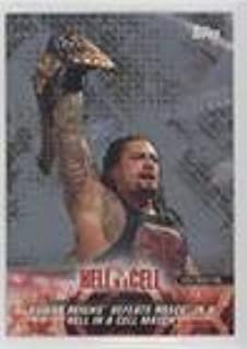 Roman Reigns Defeats Rusev in a Hell in a Cell Match #/25 (Trading Card) 2018 Topps WWE Road to Wrestlemania - [Base] - Silver #5