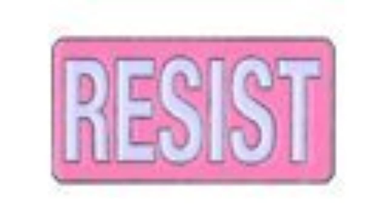 PINK RESIST, Licensed Original Artwork, Expertly Designed ENAMEL PIN - 1