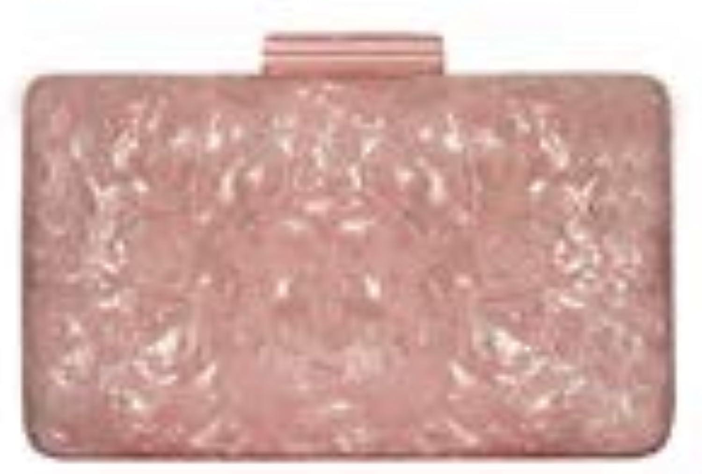 FELICIOO Damen Acryl Rosa handgefertigte Abendessen Hochzeit Tasche Schultertasche Diagonal Paket (Farbe B07PWCZY3C  Mode neue Erfahrung