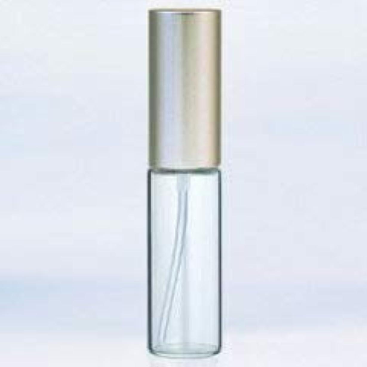 タップかまど極めて【ヤマダアトマイザー】グラスアトマイザー プラスチックポンプ 無地 アルミキャップ シルバーつや消し 10ml 6204